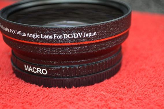 Lente Grande Angular 0.45x + Macro +8 72mm Canon Nikon Sony