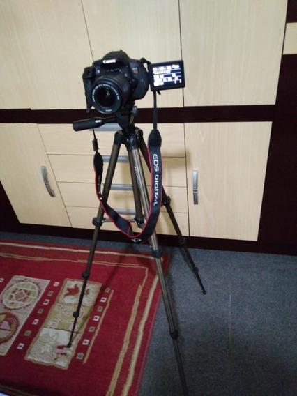T5i +ef-s 18-55 Stm +ef 50mm 1.8 Ii +case E Tripé Kit Pronto