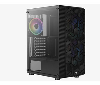 Gabinete Gamer Aerocool Hive Argb Media Torre Cristal Temp.