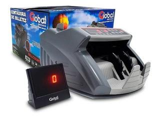 Contadora De Billetes Detector Falsos Doble Display - Global