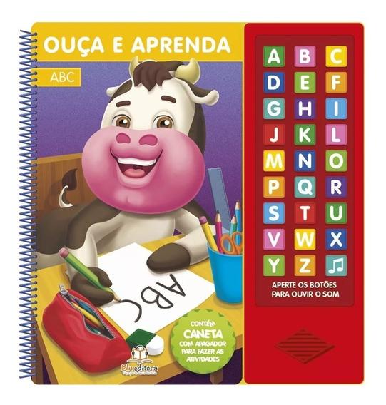 Livro Infantil Didático Ouça E Aprenda ... A B C Blueditora