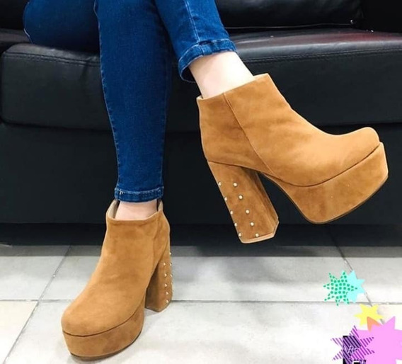 Zapatos Con Tachas Taco Palo Temporada 2019 F