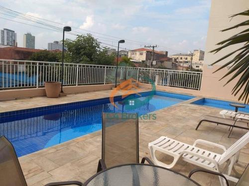 Apartamento Com 2 Dormitórios À Venda, 54 M² Por R$ 440.000,00 - Mooca - São Paulo/sp - Ap3709