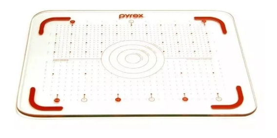 Tabla De Corte Pyrex Vidrio Templado 30x40 Cm Rectangular