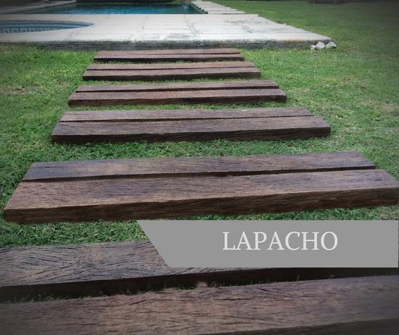 Durmientes Símil Madera - Lapacho 100x13x4cm - Línea Wood