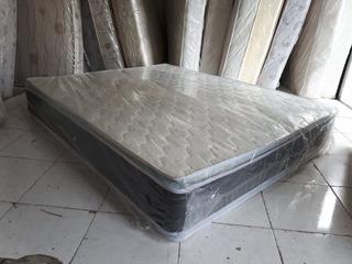 Colchon Queen 60 Doble Pillow Top Ortopedico Pillowtop