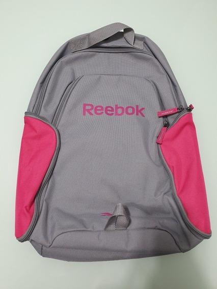 Mochila Backpack Reebok Original Importada Feminina Cinza