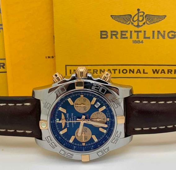 Breitling Chronomat B01 Aço E Ouro