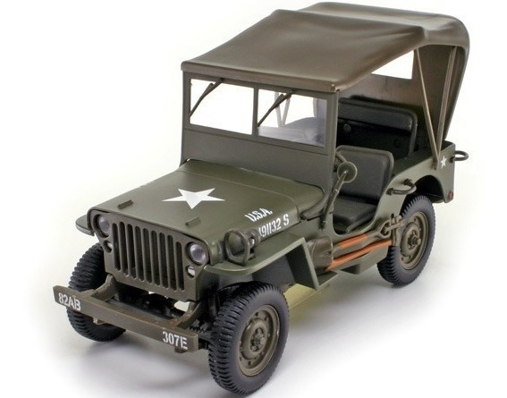 Mini Jeep Willys Militar Segunda Guerra 1:18 Ut Models Raro