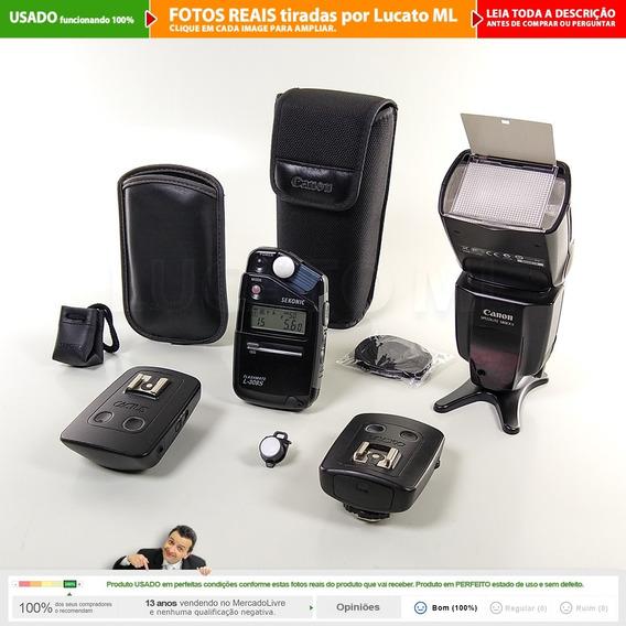 Flash Canon 580ex Ii + Fotômetro L308s + Rádio Cactus V5  2a