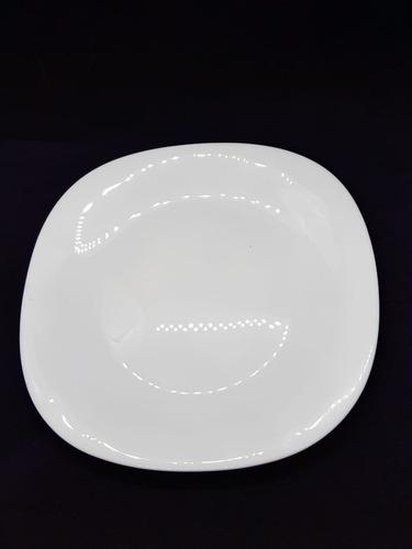 Plato Postre Diva Cuadrado 20cm Blanco - Como Vivo
