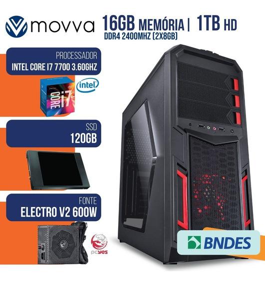 Computador Gamer Mvx7 Intel I7 7700 3.6ghz 7ª Ger. Mem. 16gb