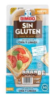 Pan Blanco Bimbo Con Chía Y Linaza 430 G Sin Gluten