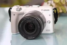 Camera Canon M3 Mirrorless+ef-m18-55mm+2 Baterias+16gb+bolsa
