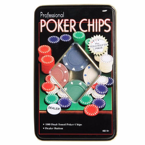 Jogo Poker Chips Professional Pequeno