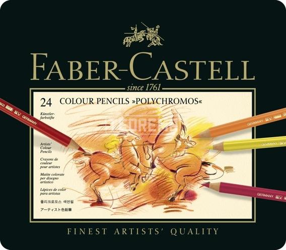 Lápices De Colores Faber Castell Polychromo X 24