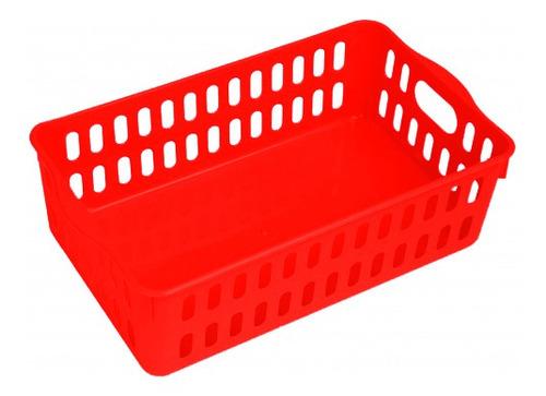 Kit 20 Cestinhas Multiuso Plástico 25x17x8 Vermelha Elloplas