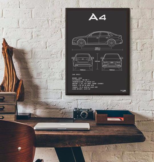 Quadro Audi A4 Sedan - Pôster Carro Interlakes