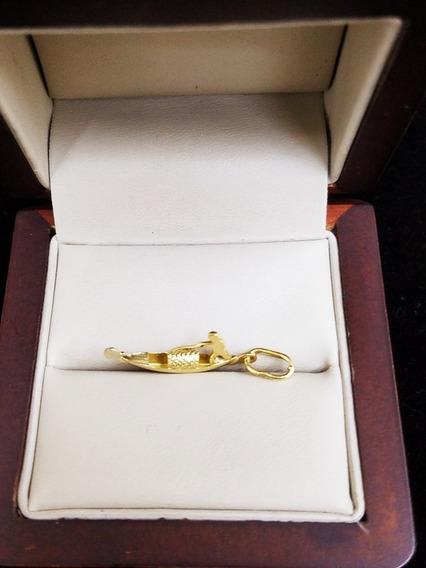 Dije De Oro Amarillo 14k Italy Hechura Moderna