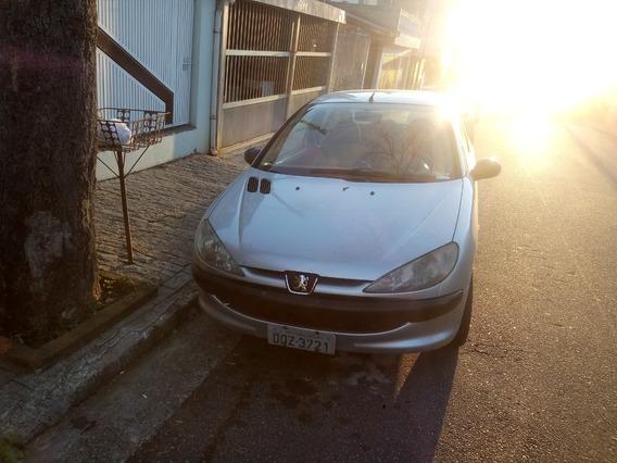 Peugeot 206 Sensation 1.4 Flex 2007 2 Portas Prata