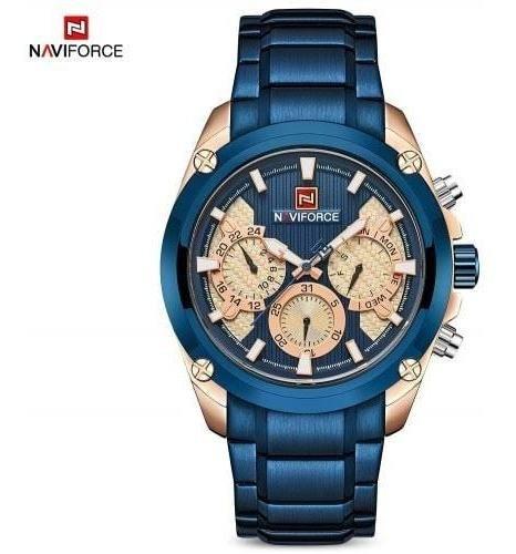 Relógio Masculino Em Aço Inoxidável Naviforce