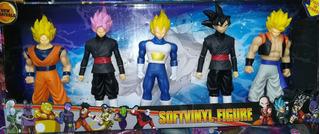 Muñecos Dragon Ball Z Goma Jiren Goku Vegeta Majin Bu Cell