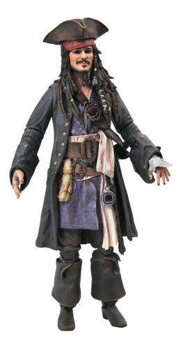 Imagen 1 de 3 de Jack Sparrow Pirates Of The Carib Deluxe Diamond Select Toys