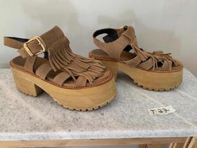 Camel Ojotas Zapatos Color Gamuza De Sandalias Y FTl1JcK
