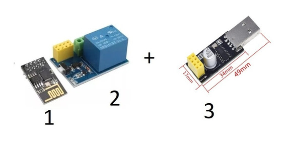 Módulo Relé Wi-fi Esp8266 V1.0 Com Esp-01 Novo+usb Serial