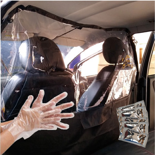 Divisor Barrera Sanitaria Auto Uber,remis,taxi 250mic+regalo