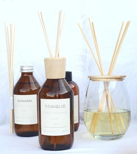 Difusor Aromatico Con Tapa De Madera Y  Varillas