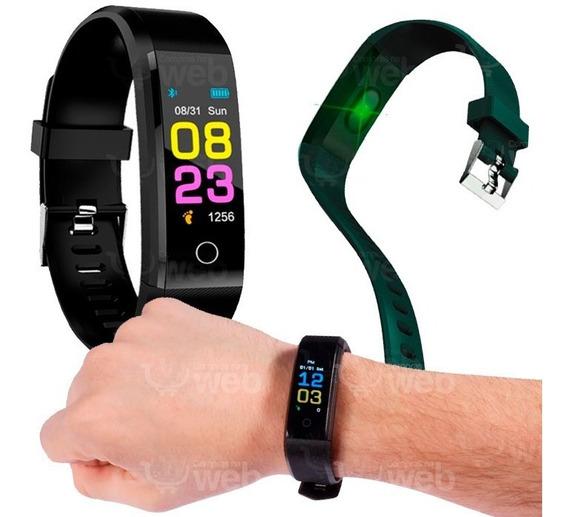 Relógio Pulseira Calorias Fitness Monitora Cardiaco Corrida