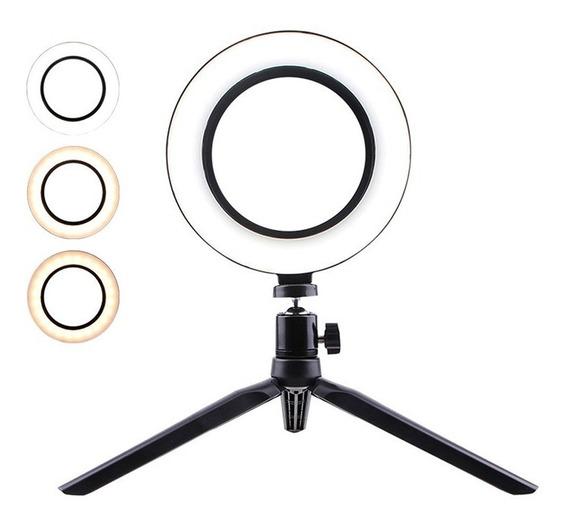 Mini Led Video Ring Light Lamp Fill Lâmpada Câmera