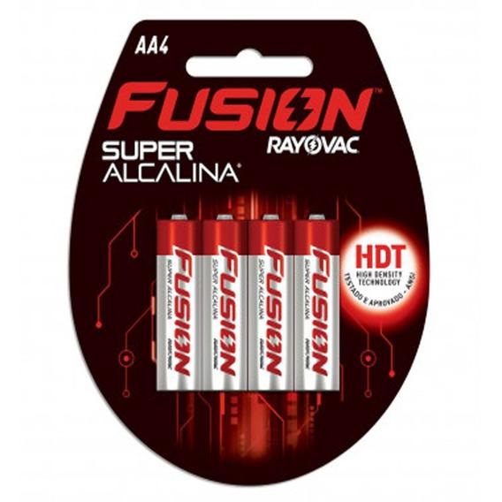 Caixa Pilha Rayovac Fusion Aa -18 Cartelas C/ 4 Pilhas Cada