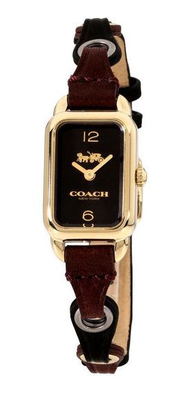 Relógio Feminino Coach 14502962 Pulseira De Couro