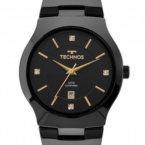 Relógio Technos Feminino Cerâmica Preto Gn10au/4p Original