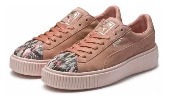 Zapatillas De Mujer Puma Platform Peach Pearl Beige