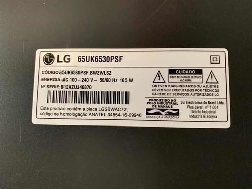 Tv LG 65 - Model 65uk6530psf - Tela Trincada