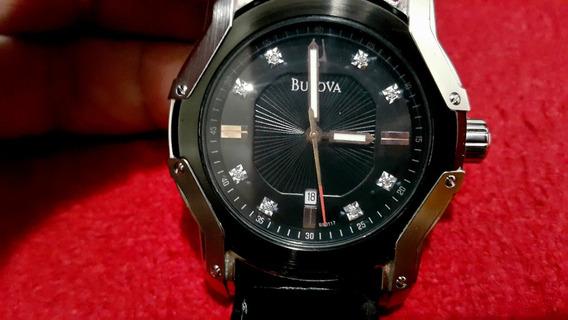 Relógio Bulova 98d117 Wintermoor Diamond Tonneau Social Luxo