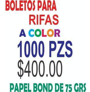 1000 Boletos Para Rifa