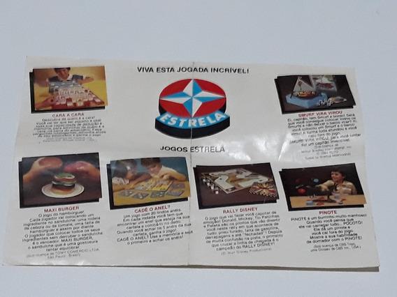 Encarte De Jogos Estrela - Original