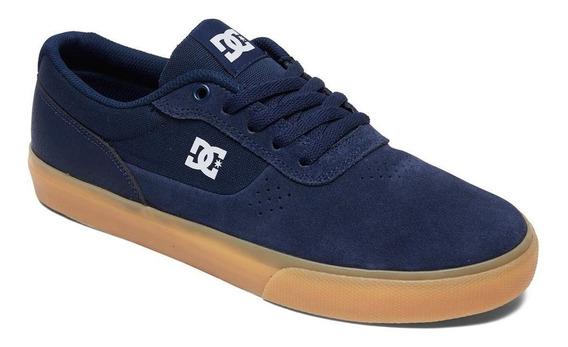 Tenis Dc Shoe Switch Camurça Azul Masculino Frete Gratis!!!