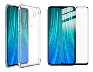 Case Antiimpacto Queda Redmi Note 8 Pro + Brinde Pelicula 3d