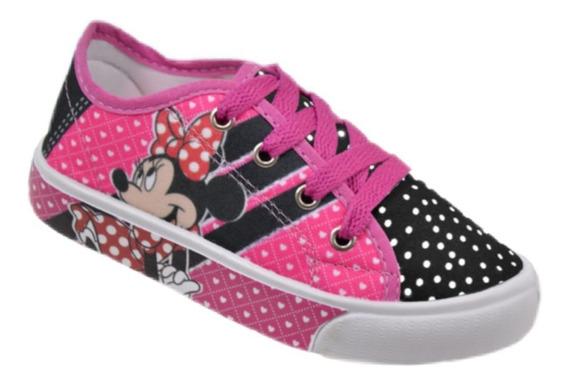 Tênis Minnie Infantil Feminino Menina Mouse Criança Promoção Barato Confortável Caminhada Correr Melhor Preço