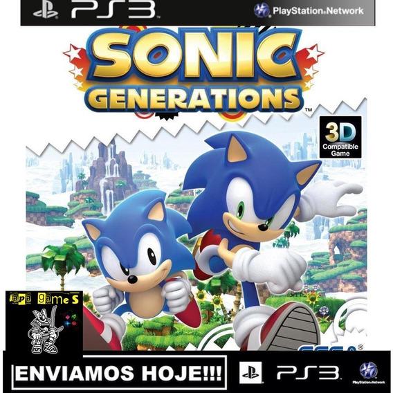 Sonic Generations Jogos Ps3 Psn Original Receba Hoje