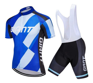 Conjunto Ciclismo Giant Camisa E Bermuda Bretelle Gt01