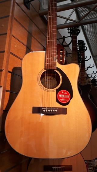 Guitarra Electro Acústica Pre Fishman ! Fender Cd-60sce Nat