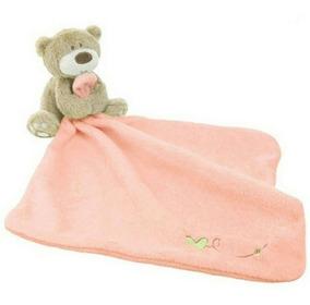Naninha Bebê Importada Ursinho Branca-rosa Paninho Cheirinho
