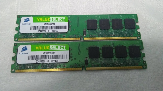 Par De Memorias Corsair Value Select Ddr2 1gb