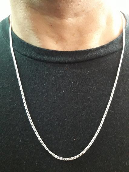 Corrente Groumet 60cm 4.0gr Em Prata 925 Masculina + Brinde